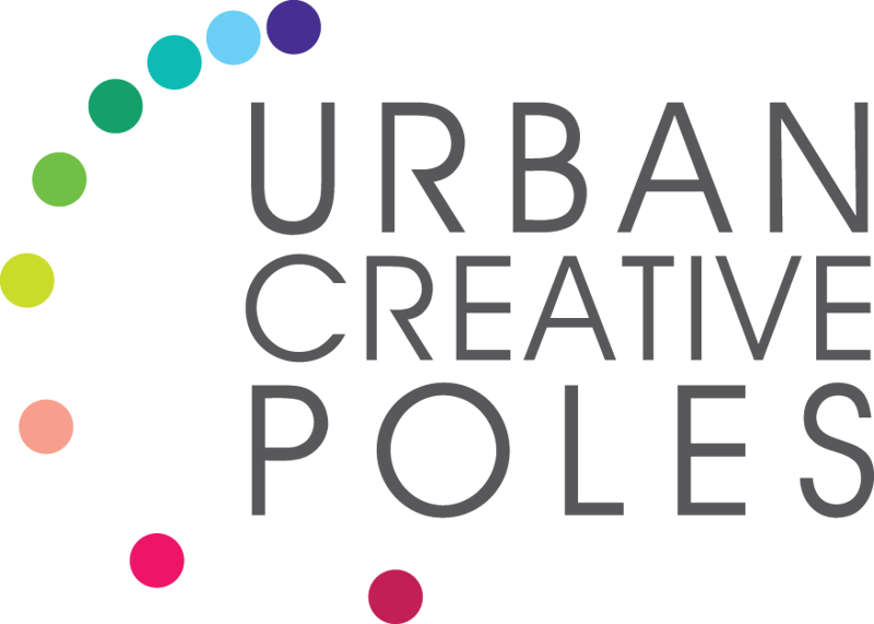 urban creative poles logo colour